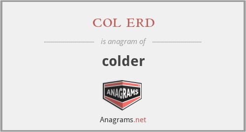 col erd - colder