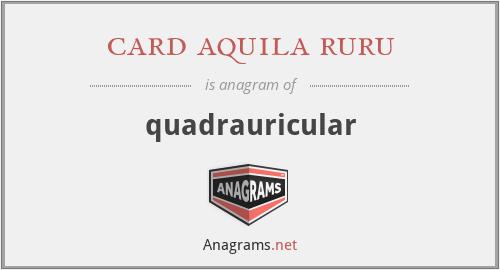 card aquila ruru - quadrauricular