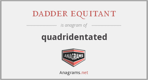 dadder equitant - quadridentated