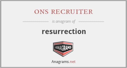 ons recruiter - resurrection