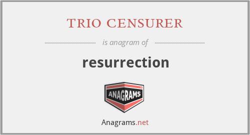 trio censurer - resurrection