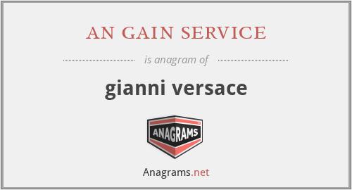 an gain service - gianni versace