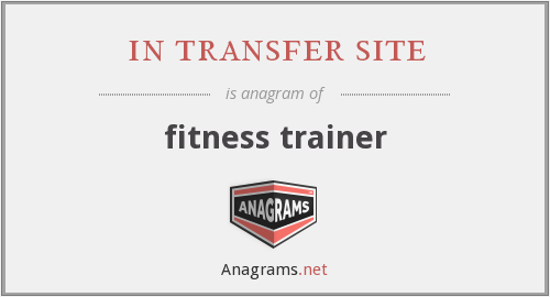 in transfer site - fitness trainer