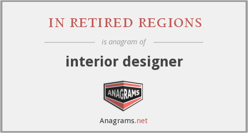 in retired regions - interior designer
