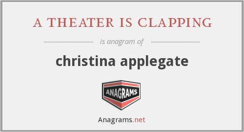 a theater is clapping - christina applegate