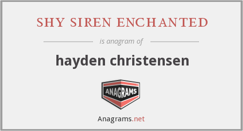 shy siren enchanted - hayden christensen