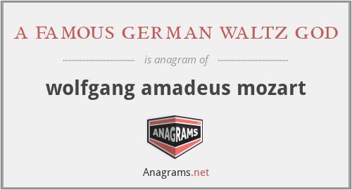 a famous german waltz god - wolfgang amadeus mozart
