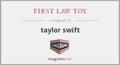 first law toy - taylor swift