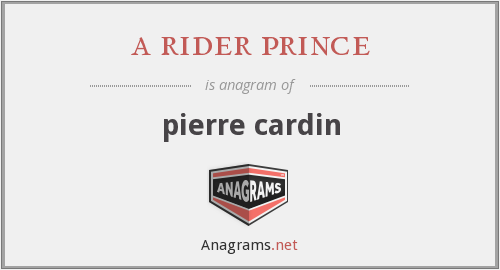 a rider prince - pierre cardin