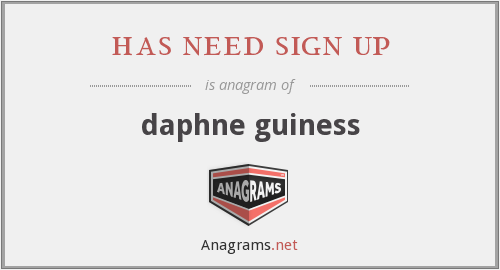 has need sign up - daphne guiness