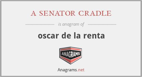 a senator cradle - oscar de la renta