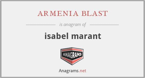 armenia blast - isabel marant