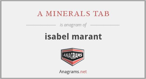 a minerals tab - isabel marant