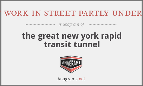 giant work in street partly underneath - the great new york rapid transit tunnel