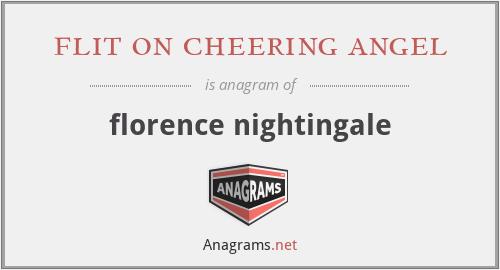 flit on cheering angel - florence nightingale