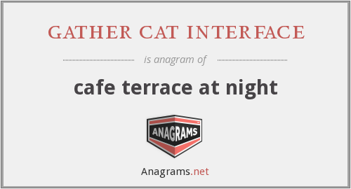 gather cat interface - cafe terrace at night