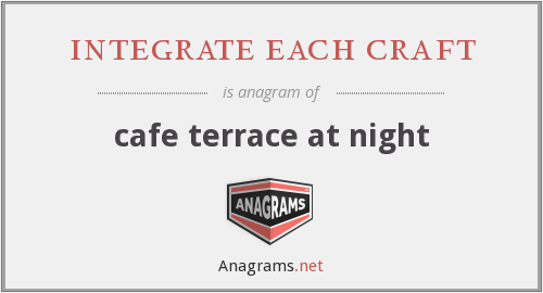 integrate each craft - cafe terrace at night