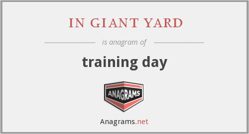 in giant yard - training day