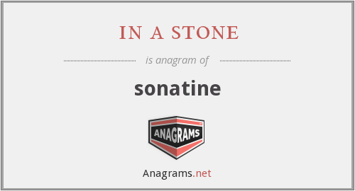 in a stone - sonatine