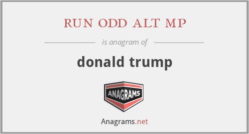 run odd alt mp - donald trump