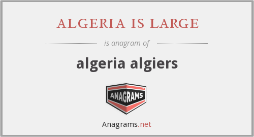 algeria is large - algeria algiers