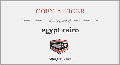 copy a tiger - egypt cairo