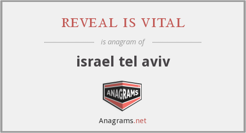 reveal is vital - israel tel aviv