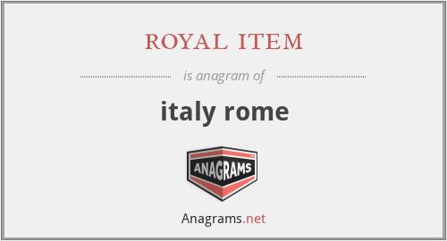 royal item - italy rome