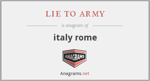 lie to army - italy rome