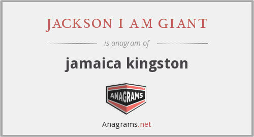 jackson i am giant - jamaica kingston
