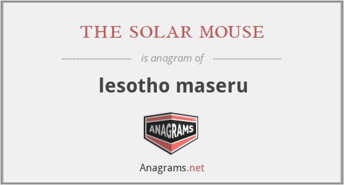 the solar mouse - lesotho maseru