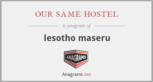 our same hostel - lesotho maseru