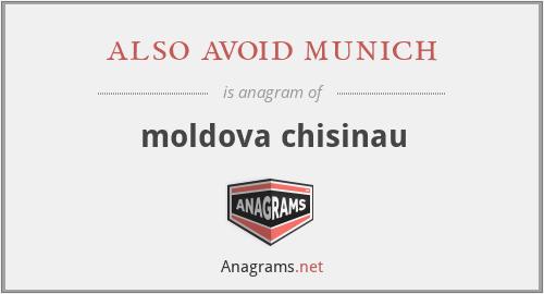 also avoid munich - moldova chisinau