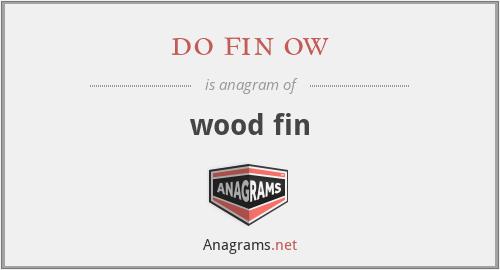 do fin ow - wood fin