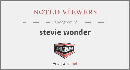 noted viewers - stevie wonder