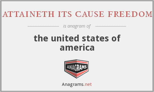 attaineth its cause freedom - the united states of america