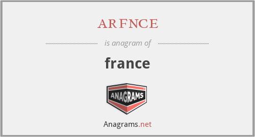 arfnce - france