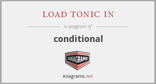 load tonic in - conditional