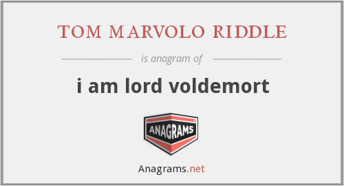 tom marvolo riddle - i am lord voldemort