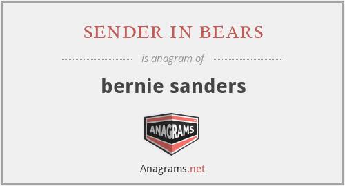 sender in bears - bernie sanders