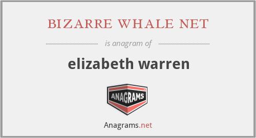 bizarre whale net - elizabeth warren