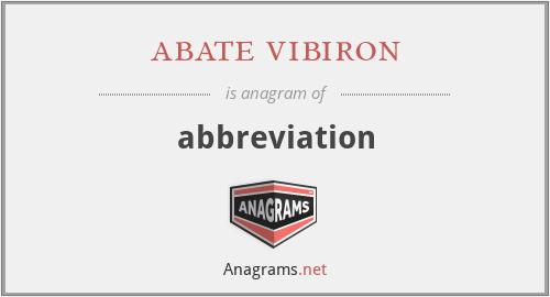 abate vibiron - abbreviation