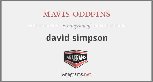 mavis oddpins - david simpson