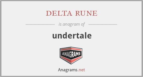 delta rune - undertale