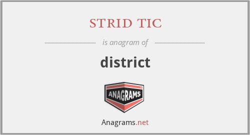 strid tic - district
