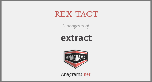 rex tact - extract