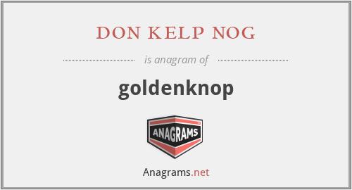 don kelp nog - goldenknop