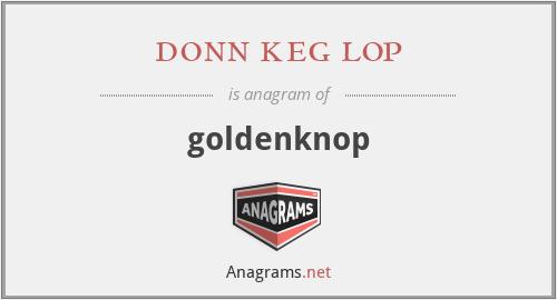 donn keg lop - goldenknop