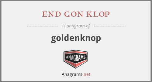 end gon klop - goldenknop