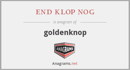 end klop nog - goldenknop